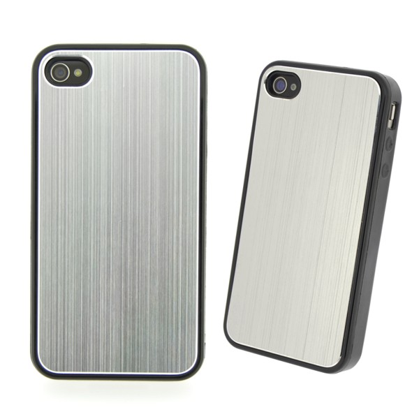 COVER METAL COLOR SILVER IPHONE 4/4S