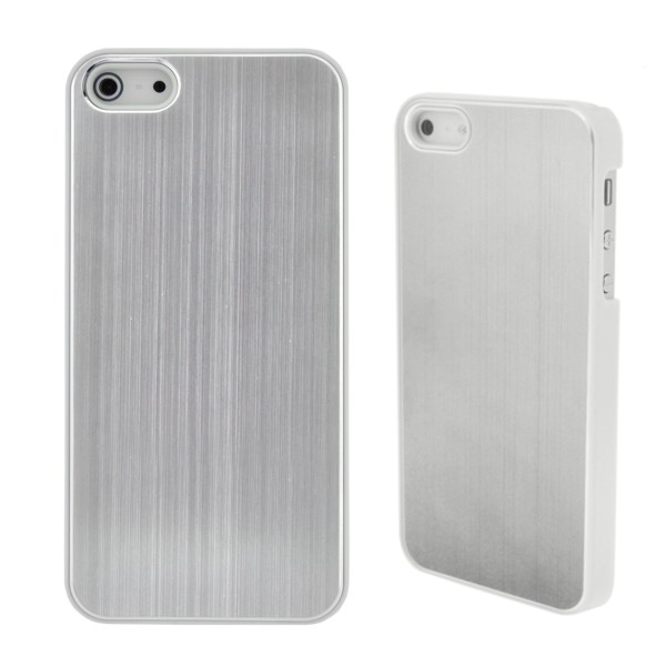 COVER METAL COLOR SILVER IPHONE 5