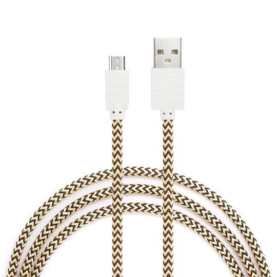 Datový a nabíjecí kabel s Micro USB konektorem, délka 1 metr, Gold