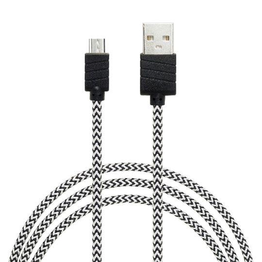 Datový a nabíjecí kabel s Micro USB konektorem, délka 1 metr, Grey