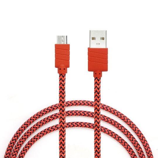 Datový a nabíjecí kabel s Micro USB konektorem, délka 1 metr, Red