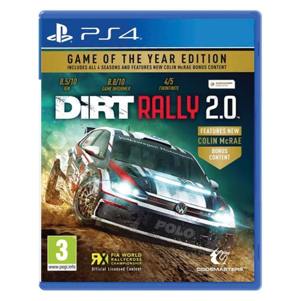 DiRT Rally 2.0 (Game of the Year Edition) PS4