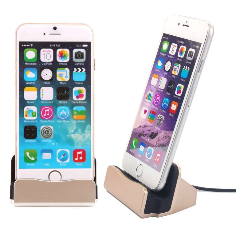 Dokovací stanice BestStation pro Apple iPhone 6 a Apple iPhone 6S, Gold