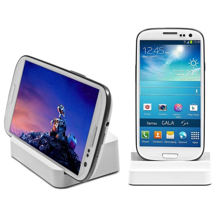 Dokovací stanice DUO pro Samsung Galaxy Ace-S5830, White