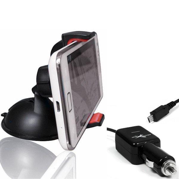Držák do auta BestMount Trendy + autonabíječka pro Evolveo StrongPhone D2