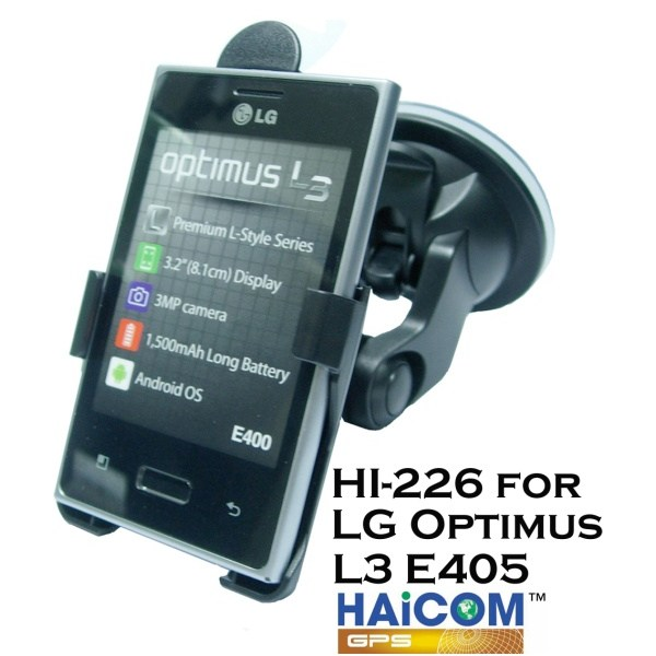 HAICOM flexibilní rameno přísavka na sklo držák pro LG Optimus L3 E400