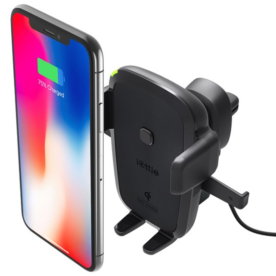 Držák do auta Iotti Easy One Touch 4 Qi Wireless do ventilace pro Váš smartphone