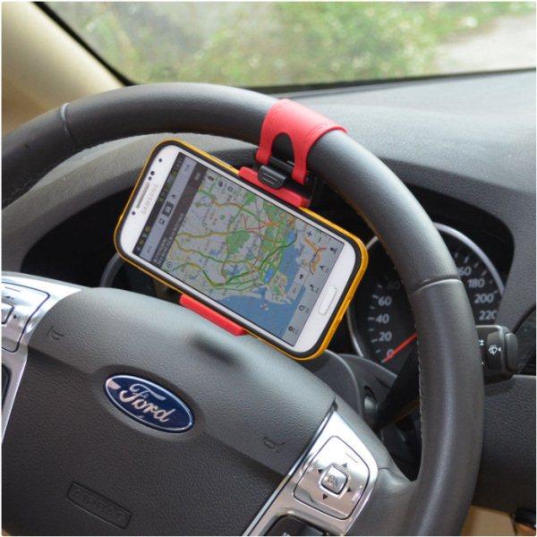 Držák do auta na volant pro Samsung Galaxy S Duos S7562 a Trend-S7560