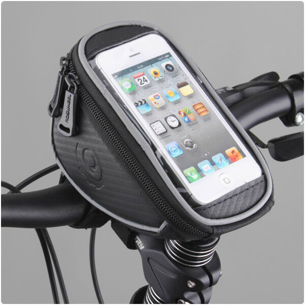 Držiak na bicykel RosWheel s brašňou (na riadidlá) pre LG L65 - D280n, LG L65 - D285