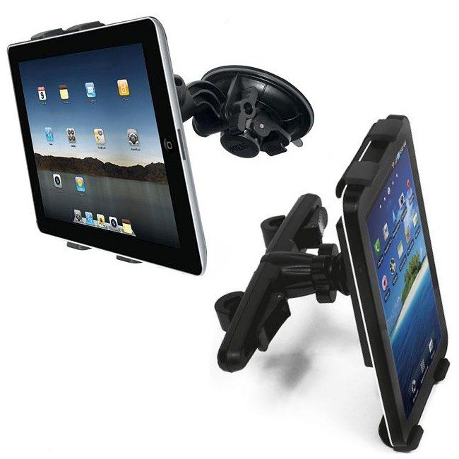 Držák s uchycením na čelní sklo a hlavovou oprieku pro Samsung Galaxy Tab 2