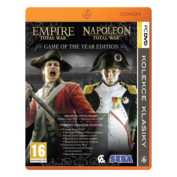 Empire & Napoleon: Total War CZ (Game of the Year Edition) PC