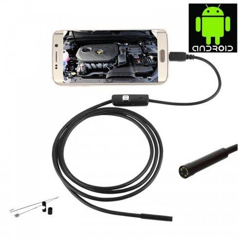 Endoskop/Inspekční VGA kamera s LED přisvícením pro Android