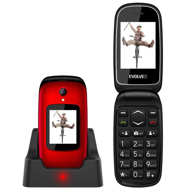 Evolveo EasyPhone FD-telefon pro seniory, červeny-rozbalený zboží
