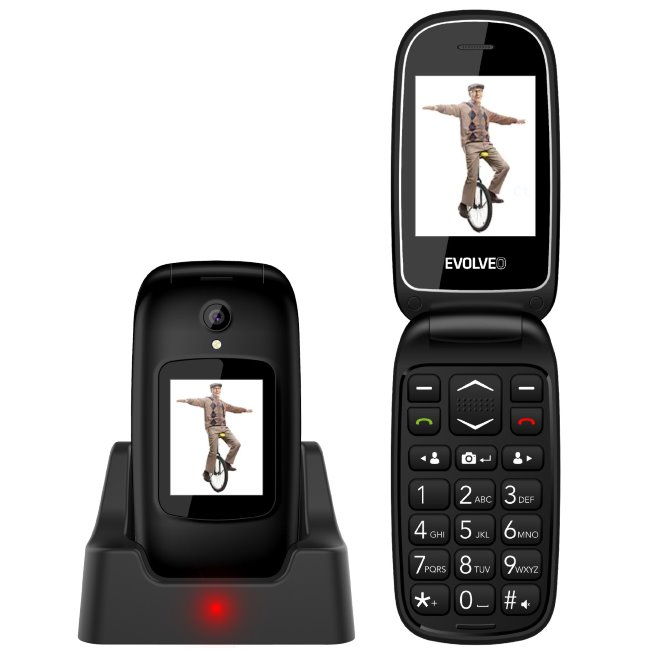 Evolveo EasyPhone FD-telefon pro seniory, černý-rozbalený zboží