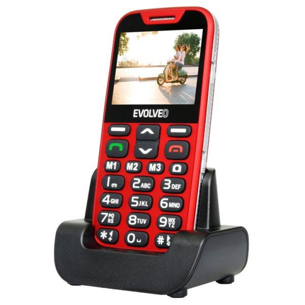 Evolveo EasyPhone XD, Red + nabíjecí stojánek - CZ distribuce