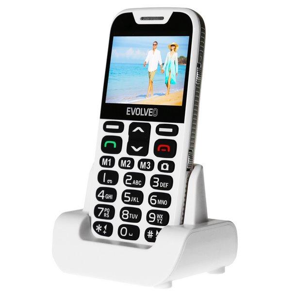 Evolveo EasyPhone XD, White + nabíjecí stojan-CZ distribuce