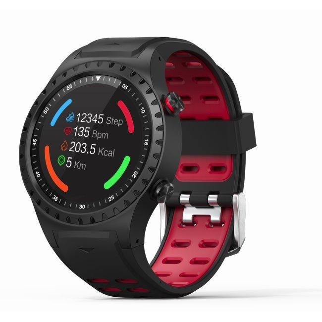 Evolveo SportWatch M1S-chytré sportovní hodinky s podporou SIM, BlackRed-rozbalený zboží