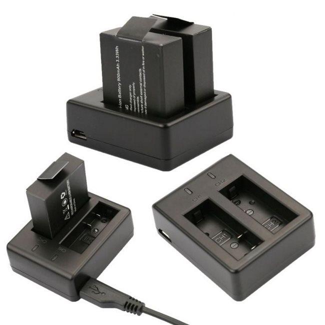 Externí duální nabíječka pro baterie pro kamery Niceboy a SJCAM