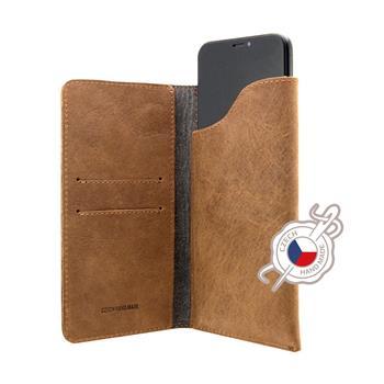 FIXED Kožené pouzdro Pocket Book pro Apple iPhone 6/6S/7/8, hnědé