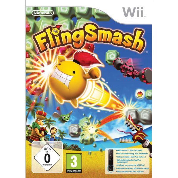 FlingSmash + Nintendo Wii Remote Plus Controller, black Wii