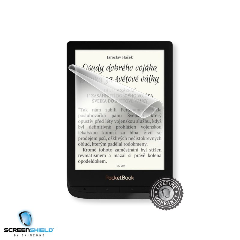 Fólie ScreenShield na displej pro Pocketbook 627 Touch Lux 4-Doživotní záruka
