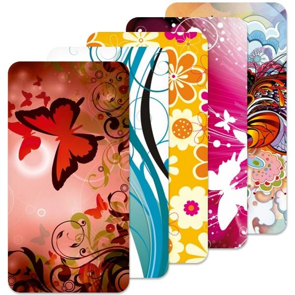 Fólie SkinZone na zadní kryt pro Huawei Ideos X3 U8510, motiv Floral dle vlastního výběru