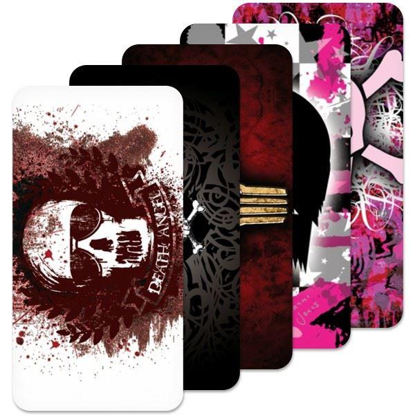 Fólie SkinZone na zadní kryt pro Nokia 500, motiv Skull dle vlastního výběru