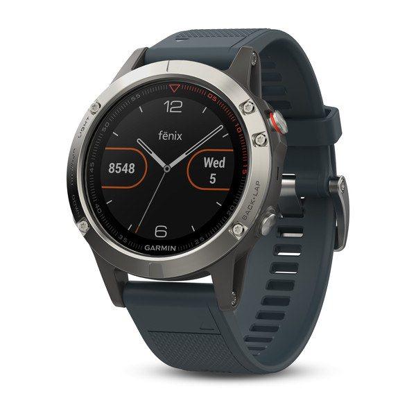 Garmin FENIX 5 Silver, Granite Band | Odolné inteligentní hodinky