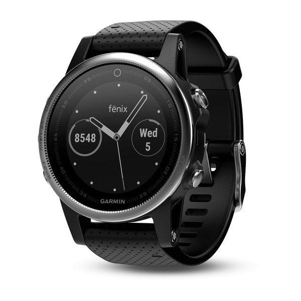 Garmin FENIX 5S Silver, Black Band | Odolné inteligentní hodinky