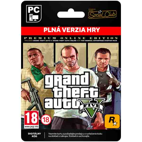 Grand Theft Auto 5 (Premium Online Edition)[Social Club]