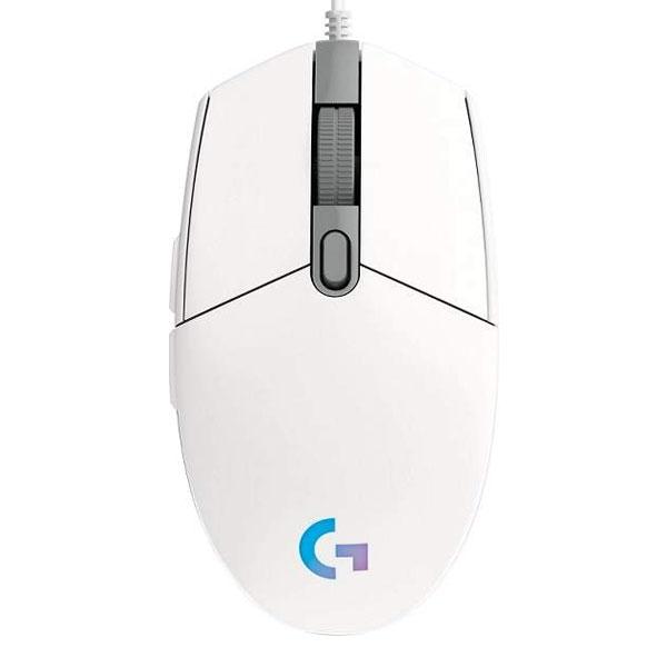 Herní myš Logitech G102 Lightsync Gaming Mouse, bílá