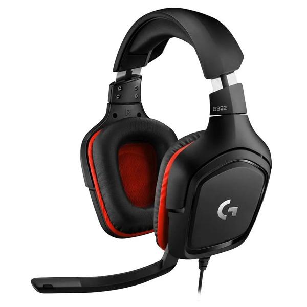 Herní sluchátka Logitech G332 Leatheratte Stereo Gaming Headset, red