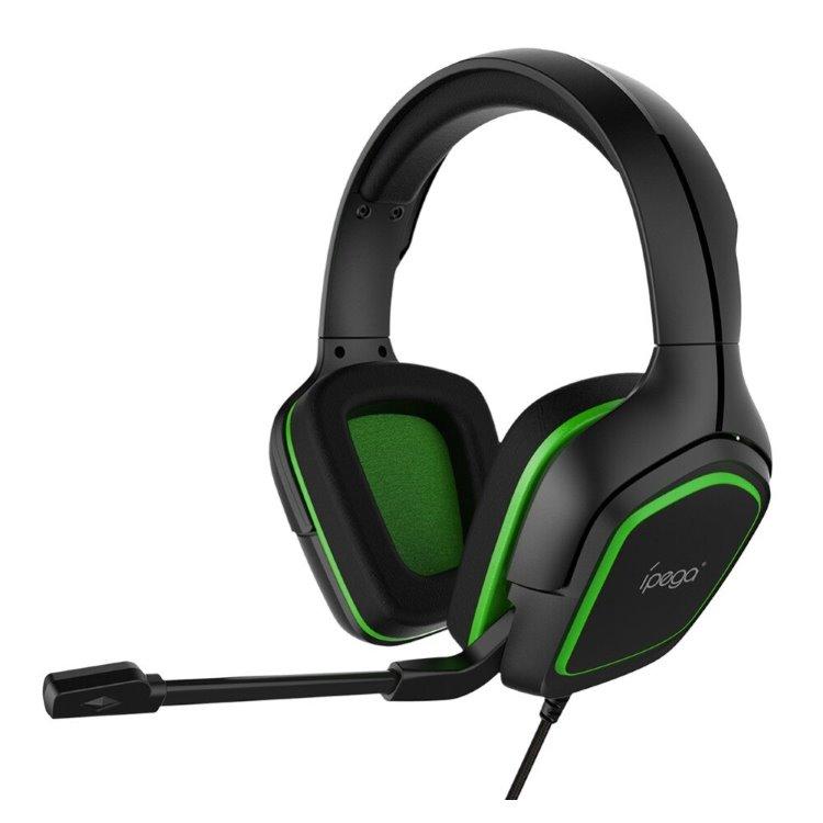Herní sluchátka s mikrofonem iPega R006, Green