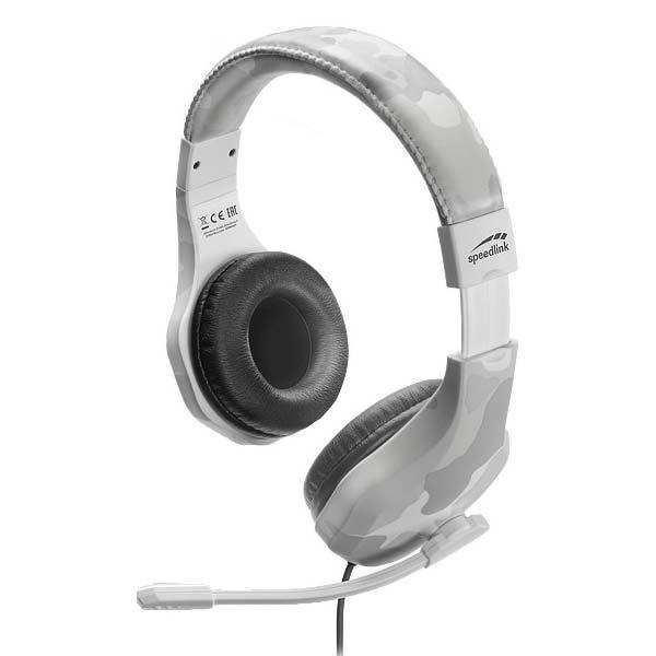Herní sluchátka Speedlink Raidor Stereo Headset pro PS4, bílé