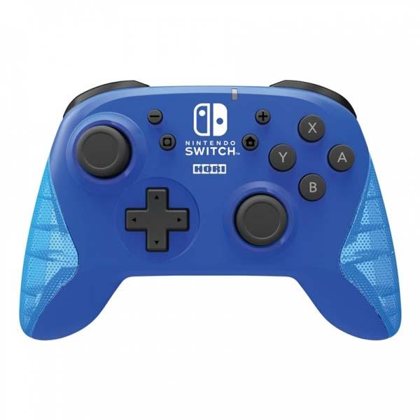 HORI Horipad bezdrátový nabíjecí ovladač pro konzole Nintendo Switch, modrý