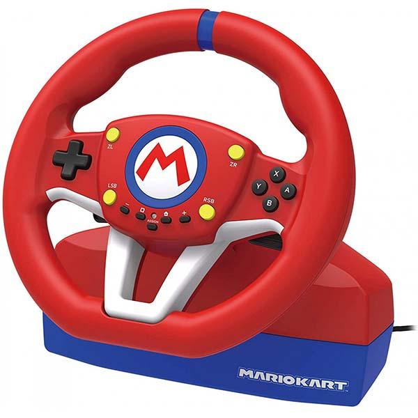 HORI pretekársky volant Mario Kart Pro MINI pre konzoly Nintendo Switch, červený