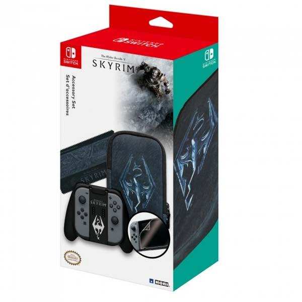 HORI Skyrim ochranná sada pro konzole Nintendo Switch, černá