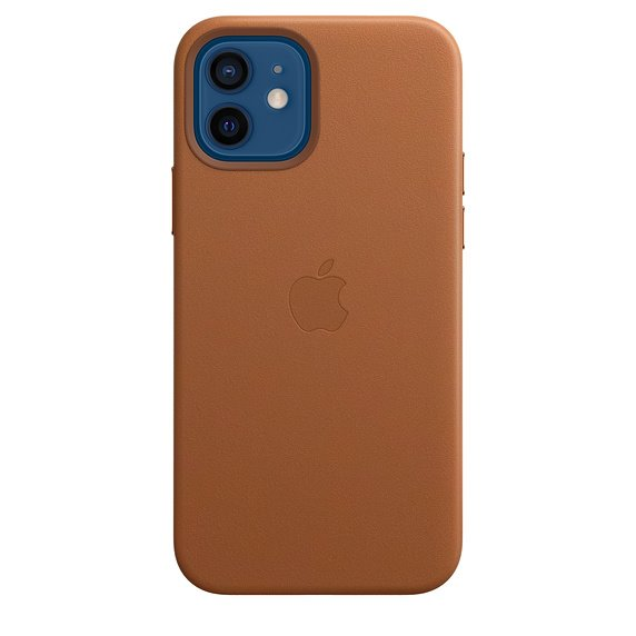 iPhone 12   12 Pro Leather Case with MagSafe - Saddle Brown