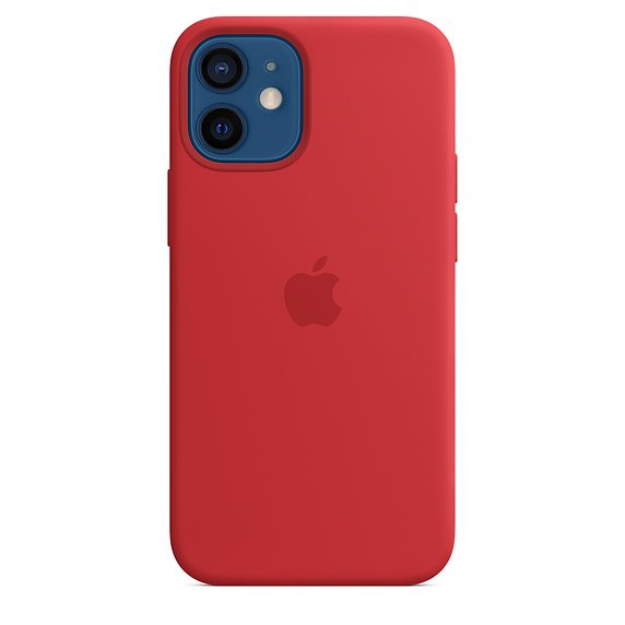 Apple iPhone 12 mini Silicone Case with MagSafe, red