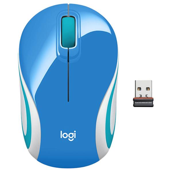 Kancelářská myš Logitech Wireless Mini Mouse M187, blue