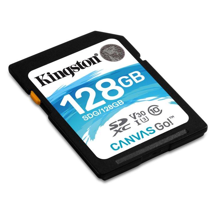 Kingston Canvas Go Secure Digital SDXC UHS-I U3 128GB | Class 10, rychlost až 80MB/s (SDG/128GB)