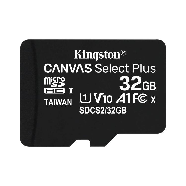 Kingston Canvas SeIect Plus Micro SDHC 32GB, UHS-I A1, Class 10 - rýchlosť 100 MB/s