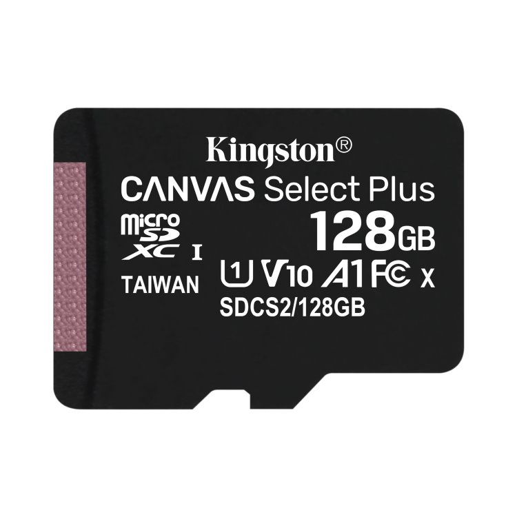 Kingston Canvas SeIect Plus Micro SDXC 128GB, UHS-I A1, Class 10 - rýchlosť 100 MB/s