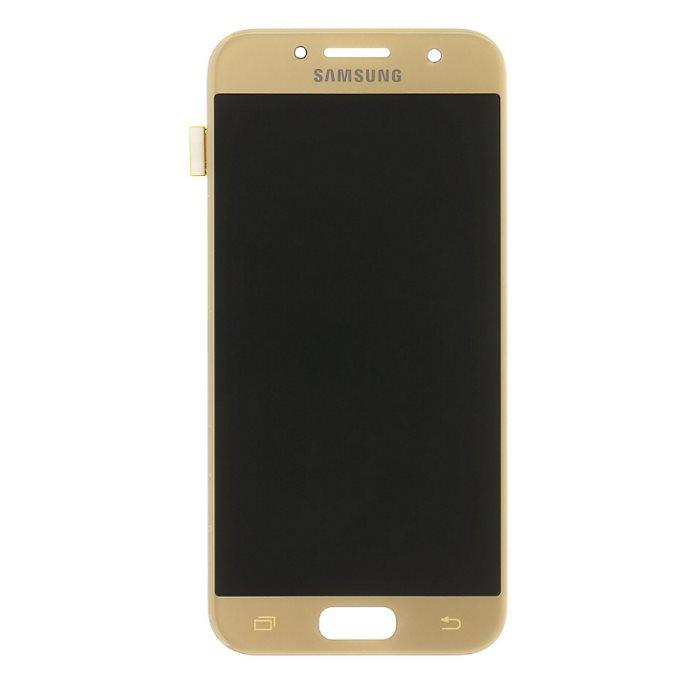 LCD displej + dotyková plocha pro Samsung Galaxy A3 2017-A320F, Gold