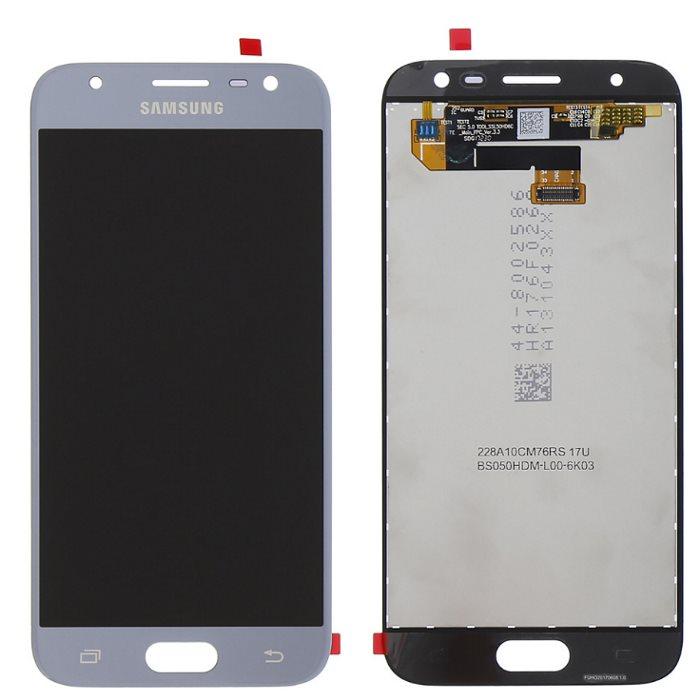 LCD displej + dotyková plocha pro Samsung Galaxy J3 2017-J330F, Silver
