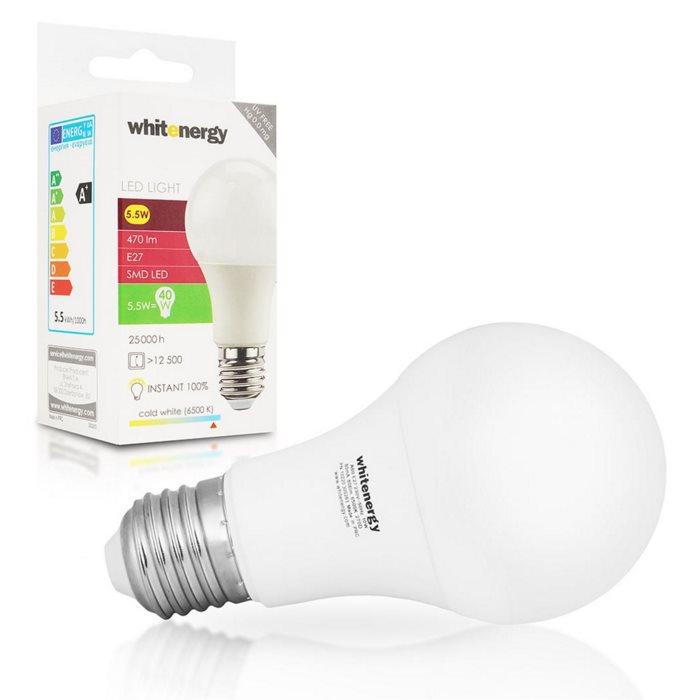 LED žárovka WhiteEnergy, E27, 10W, Studená bílá