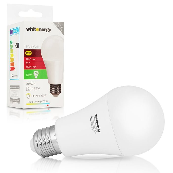 LED žárovka WhiteEnergy, E27, 12W, Studená bílá
