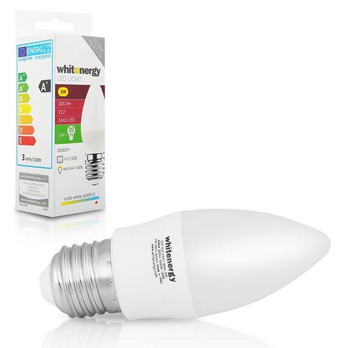 LED žárovka WhiteEnergy, E27, 3W, Studená bílá