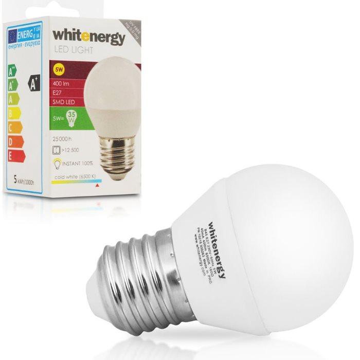LED žárovka WhiteEnergy, E27, 5W, Studená bílá