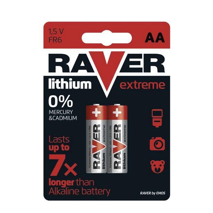 Lithiová tužková baterie AA, RAVER Extreme, 2 kusy